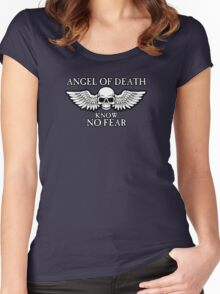 Angel of Death Know No Fear Women's Fitted Scoop T-Shirt
