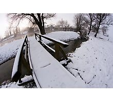 Winter by the river Photographic Print