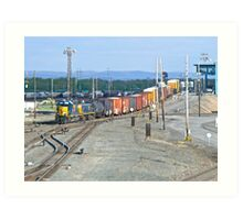 Hump Yard Action Late in the Afternoon - Selkirk, New York © 2010 Art Print
