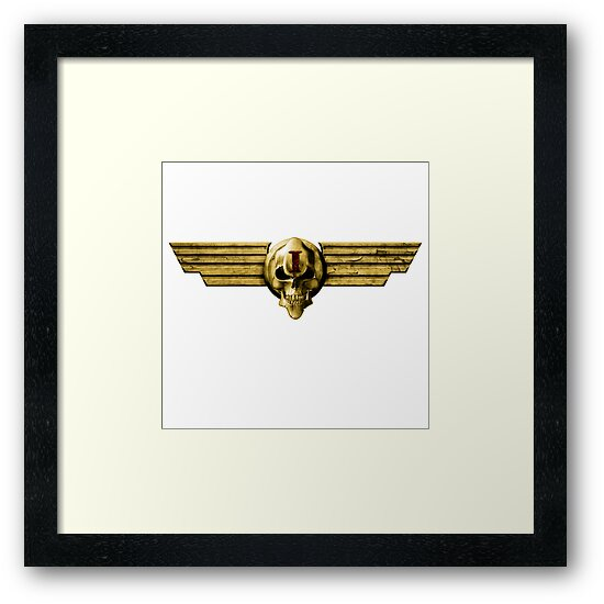 Imperial Skull & Wings - Gold by simonbreeze