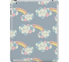 Vector seamless pattern with the clouds and rainbow iPad Case/Skin