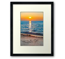 Romantic Love Sunset Framed Print