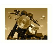 Triumph Bonneville T100: Headlight Art Print