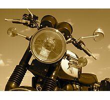 Triumph Bonneville T100: Headlight Photographic Print