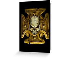 Cross and Skull Honour Badge Greeting Card