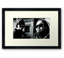 Gangsta style Framed Print
