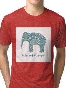 Mandala patterned vector elephant. Indian motives Tri-blend T-Shirt