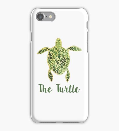 Patterned floral watercolor turtle illustration iPhone Case/Skin