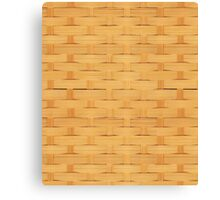 Basket Weave Design Canvas Print