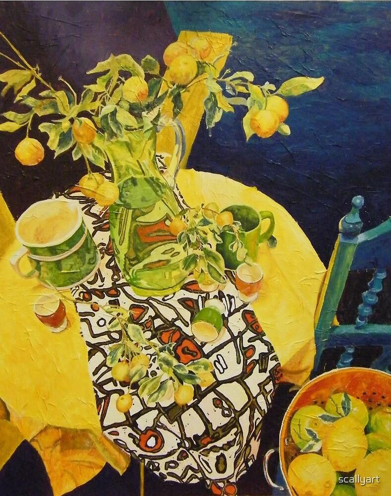 Citrus Still life by scallyart