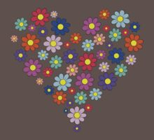 Heart flowers - white One Piece - Short Sleeve
