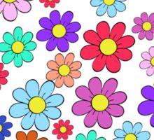 Heart flowers - white Sticker