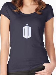 Doctor Who - Logo #3 Women's Fitted Scoop T-Shirt