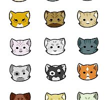 Clutter of Cats by ChaoticDraconic