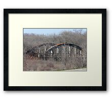 Old Cement Bridge  Framed Print