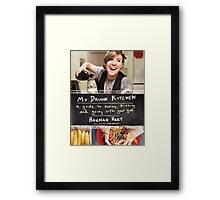 My Drunk Kitchen - a guide to eating, drinking, and going with your gut Framed Print