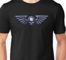 Imperial Skull and Wings Silver Unisex T-Shirt