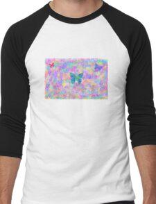 Butterfly Mist Men's Baseball ¾ T-Shirt
