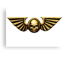 Imperial Skull and Wings Gold Canvas Print