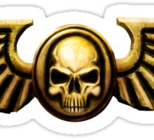 Imperial Skull and Wings Gold Sticker