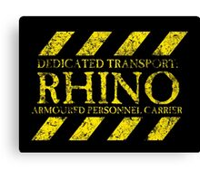Dedicated Transport: Rhino Canvas Print