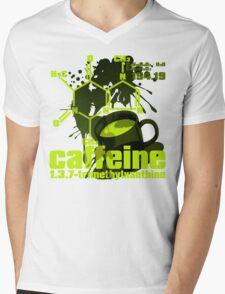 Caffeine Mens V-Neck T-Shirt