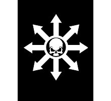 Mark of Chaos White Photographic Print