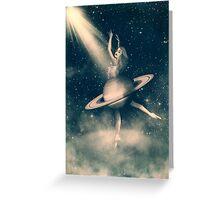 When Saturn Starts Dancing Greeting Card