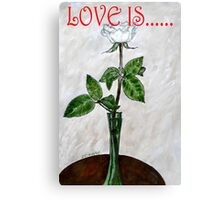 LOVE IS....(19) Canvas Print