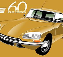 Citroën DS 60 years gold by car2oonz