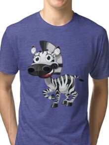 Cute smiling zebra Tri-blend T-Shirt