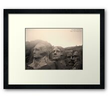 Mount Rushmore in Sepia Framed Print
