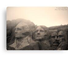 Mount Rushmore in Sepia Canvas Print