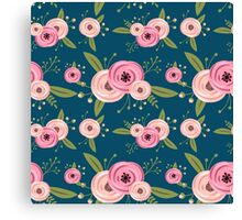 Vector seamless pattern with roses Canvas Print