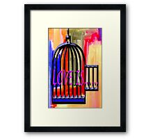 LOVE IS 10 Framed Print