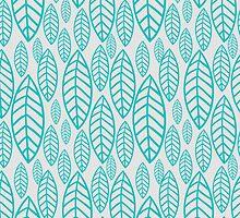 Vector leaf seamless pattern by julkapulka