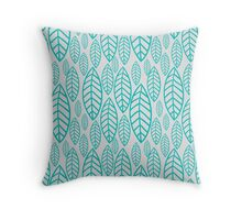 Vector leaf seamless pattern Throw Pillow