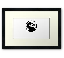 Mortal Kombat - Black Logo Framed Print