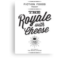 The Royale with Cheese - black Canvas Print