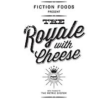 The Royale with Cheese - black Photographic Print