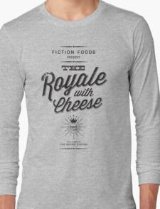 The Royale with Cheese - black Long Sleeve T-Shirt