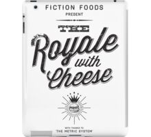 The Royale with Cheese - black iPad Case/Skin