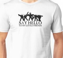 Say Hello to my Little Friends of the Ruinous Powers Black Unisex T-Shirt