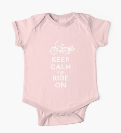 Keep Calm and Ride On - cruiser - white fonts 1 Kids Clothes