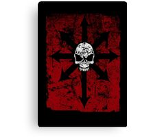 Khaos Red Canvas Print
