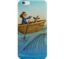 Sailing (Fox and Girl) iPhone Case/Skin