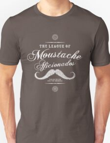 Movember - Moustache Afficionado League white Unisex T-Shirt