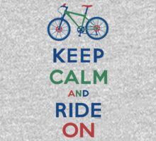 Keep Calm and Ride On - mountain bike - primary Kids Clothes