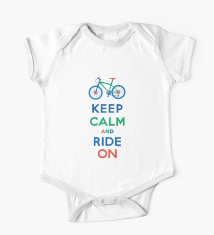 Keep Calm and Ride On - mountain bike - primary One Piece - Short Sleeve