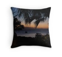 sunset in Mauritius 2 Throw Pillow